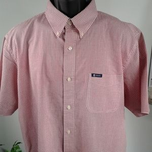Chaps Mens Shirt~ Short Sleeve~ XL